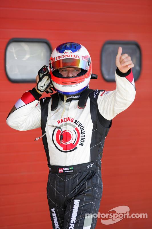 Rubens Barrichello fête sa performance en qualifications