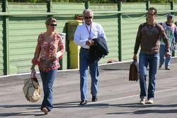 Corina Schumacher, Willi Weber et Michael Schumacher