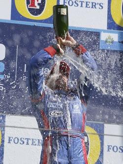 Podium: Ernesto Viso celebrates with champagne