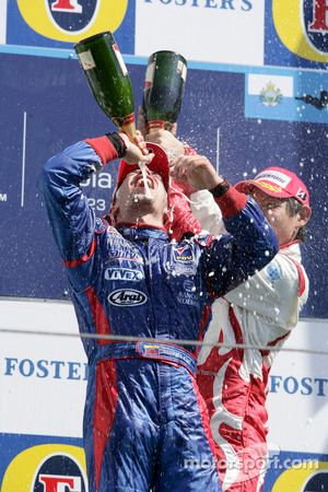 Podium: Ernesto Viso celebrates with champagne