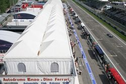 A view of the pit area