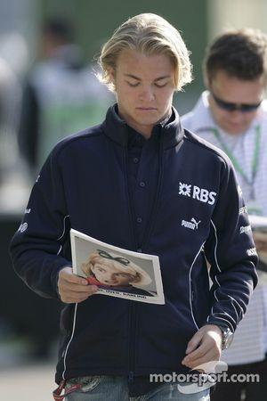 Nico Rosberg avec le Red Bulletin