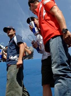 Vitantonio Liuzzi, Scott Speed et Michael Schumacher