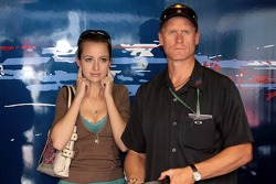 Valentina Neuhauser, the girlfriend of Scott Speed and his manager Glen Hinshaw