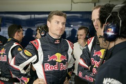 David Coulthard, l'ingénieur de la course Mark Hutcheson et Marco Arini