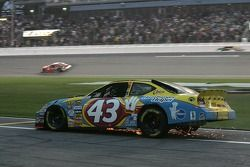 Bobby Labonte in trouble on pit road