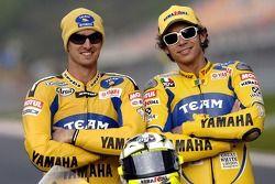 Séance photos: Colin Edwards et Valentino Rossi