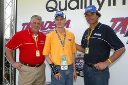 President of Aaron's William Butler, mine survivor Randy McCloy and Michael Waltrip