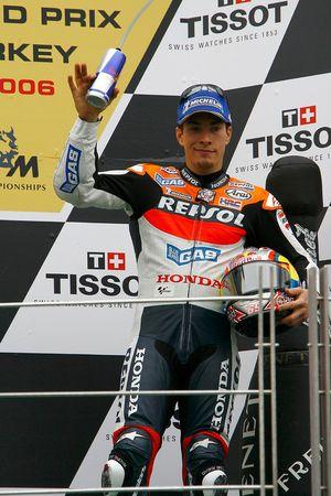 Nicky Hayden sur le podium