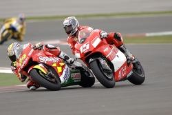 Toni Elias, Honda; Sete Gibernau, Ducati