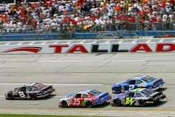 Dale Earnhardt Jr. takes the lead