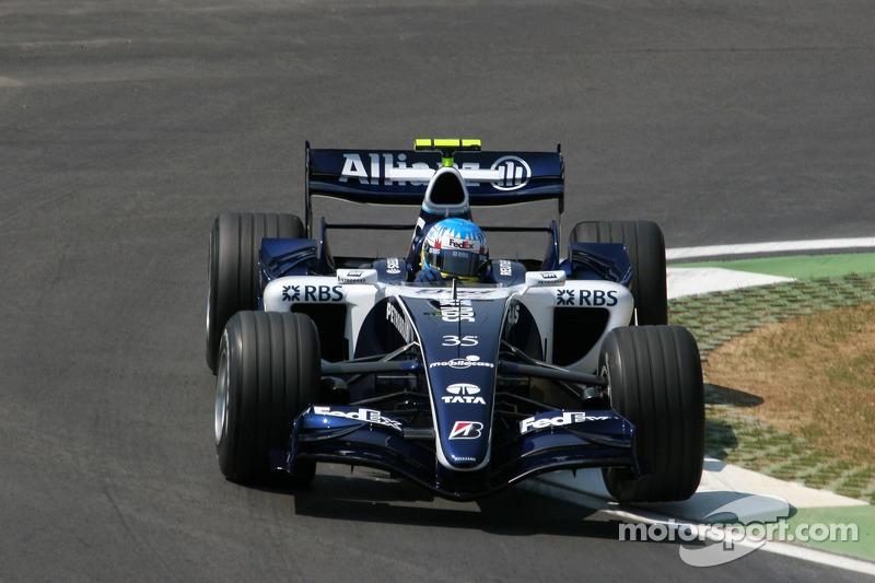 2006: Александр Вурц и Педро де ла Роса, Williams, тренировки