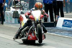 Tommy Grimes a pris la pole position en Top Fuel Harley