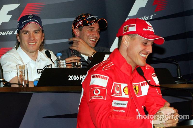Conférence de presse de la FIA le jeudi: Nick Heidfeld, Christijan Albers et Michael Schumacher