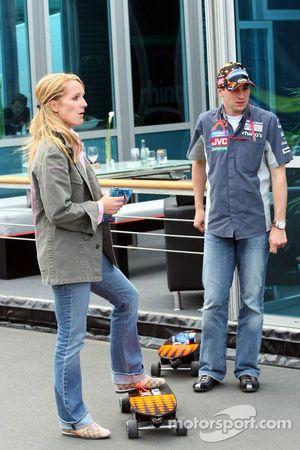 Christijan Albers with girlfriend Liselore Kooijman