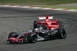 Juan Pablo Montoya en Michael Schumacher