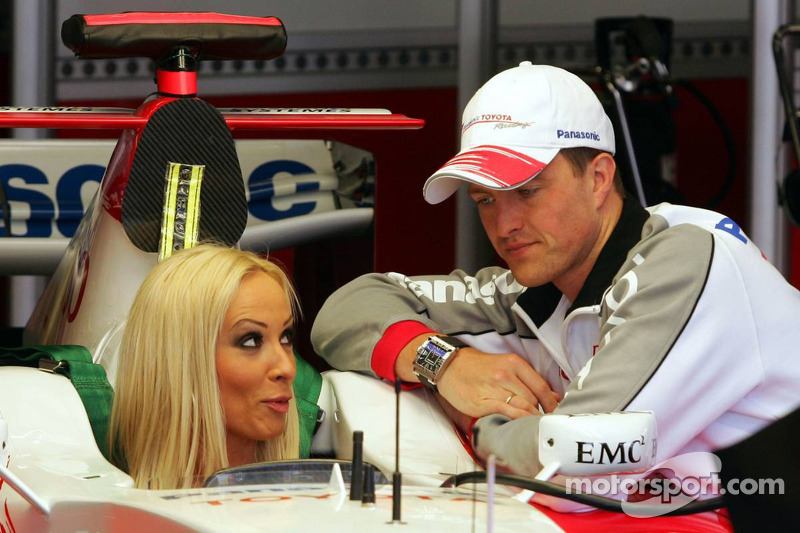 Cora Schumacher Is Instructed By Ralf Schumacher In The Toyota