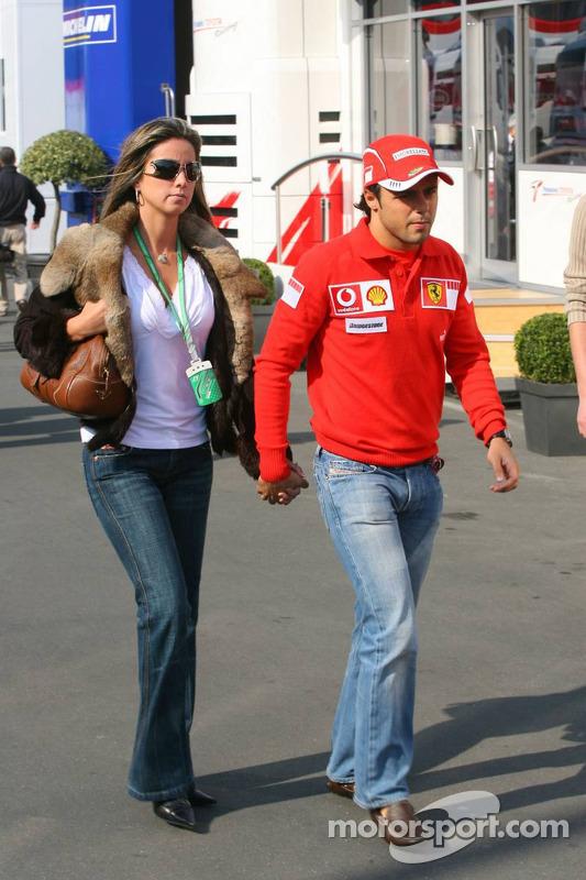 Felipe Massa avec sa petite amie Rafaela Bassi
