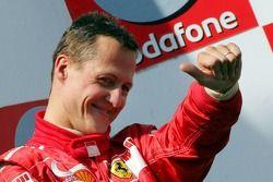 Победитель гонки Михаэль Шумахер, Ferrari