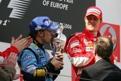 Fernando Alonso, 2º en el GP de Europa 2006 con Renault
