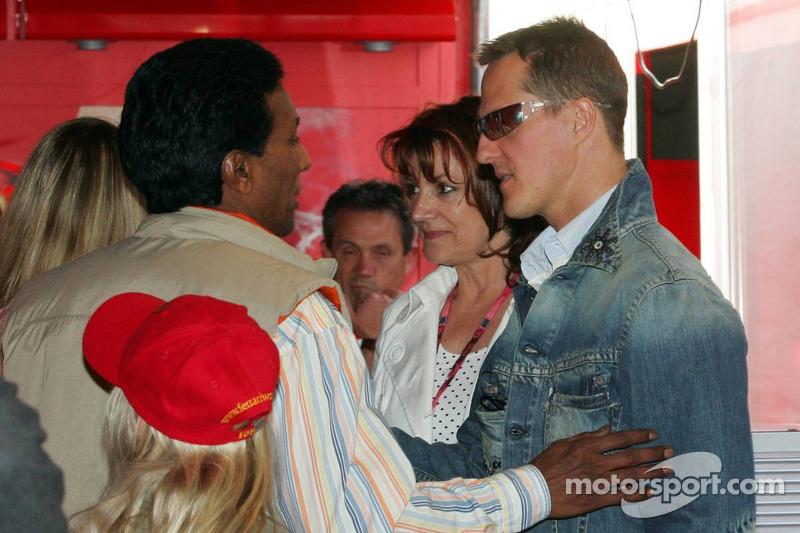 Balbir Singh, Barbara Stahl et Michael Schumacher