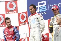 Lewis Hamilton (1.) Nicolas Lapierre (2.), José María López (3.)