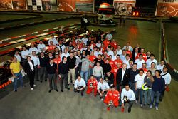 Ferrari team at the Kerpen karting circuit