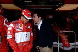 Felipe Massa and Nicolas Todt