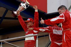 Podium: race winner Michael Schumacher, Felipe Massa and Ross Brawn