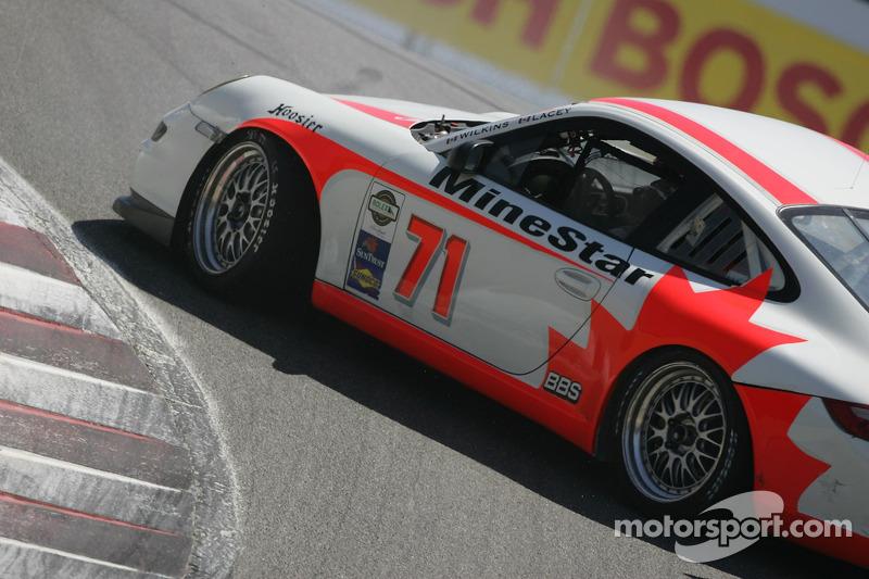 #71 SAMAX/ Doncaster Racing Porsche GT3 Cup vue de l'arrière