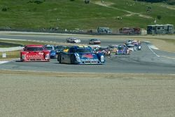#10 leads the field at Turn 11 for the restart