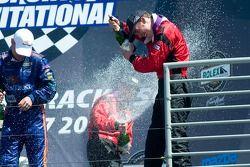 Post-race celebration
