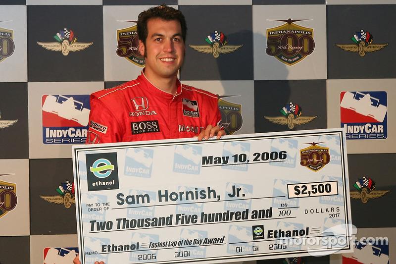 Chèque de 2500 dollars pour Sam Hornish Jr., le plus rapide du jour