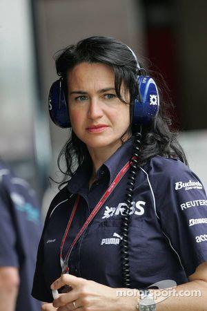 Silvia Hoffer, attachée de presse de Williams F1 Team