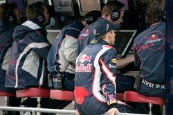 Christian Klien au portique des stands