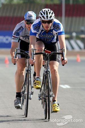 Scott Speed avec son manager Glen Hinshaw