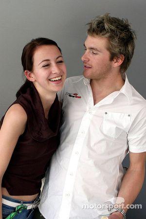 Scott Speed with his girlfriend Valentina