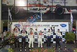 P1 podium: class and overall winners Rinaldo Capello and Allan McNish, with second place James Weave