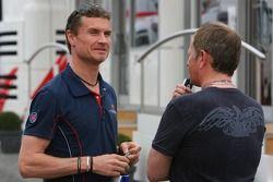 David Coulthard et le commentateur Martin Brundle