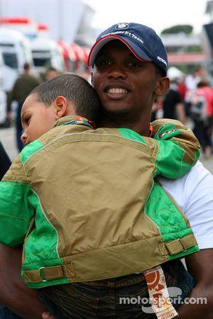 Samuel Eto'o, Barcelona FC Player ve oğlu