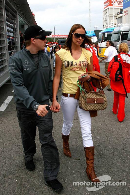 Kimi Räikkönen avec sa femme Jennie