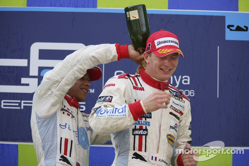 Alexandre Premat avec Lewis Hamilton