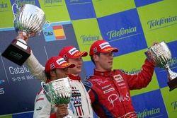 Первое место - Александр Према, второе место - Льюис Хэмилтон и третье место - Михаэль Аммермюлер