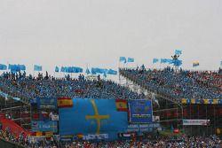 Les fans de Barcelone prêts pour la course