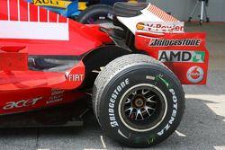 Michael Schumacher's car after the race
