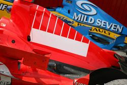 Michael Schumacher's engine cover after the race