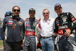 Colin Kolles, Tiago Monteiro, Alex Shnaider et Christijan Albers