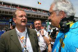 Wendelin Wedeking, directeur de Porsche AG avec Flavio Briatore