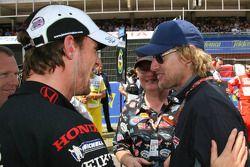 Jenson Button avec l'acteur Owen Wilson