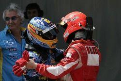 Fernando Alonso avec Michael Schumacher